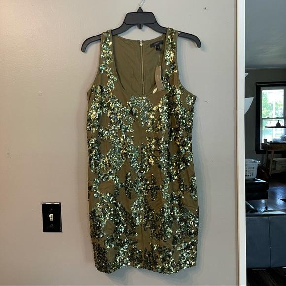 J. Crew Sequin Olive Dress NWT
